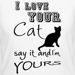 I love your Cat - Frauen Bio-T-Shirt
