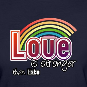 Love - stronger than hate - Women's Organic T-shirt