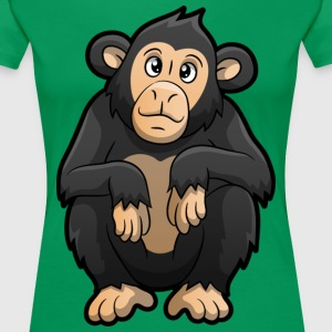 Zoo Animal Chimpanzee - Women's Premium T-Shirt