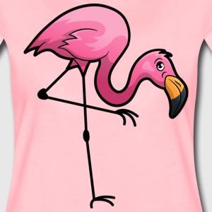 Zoo Animal  Pink Flamingo - Women's Premium T-Shirt