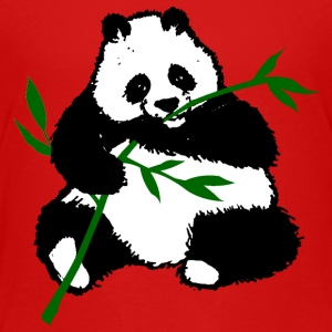 Panda eet bamboe teenager t-shirt - Teenager Premium T-shirt