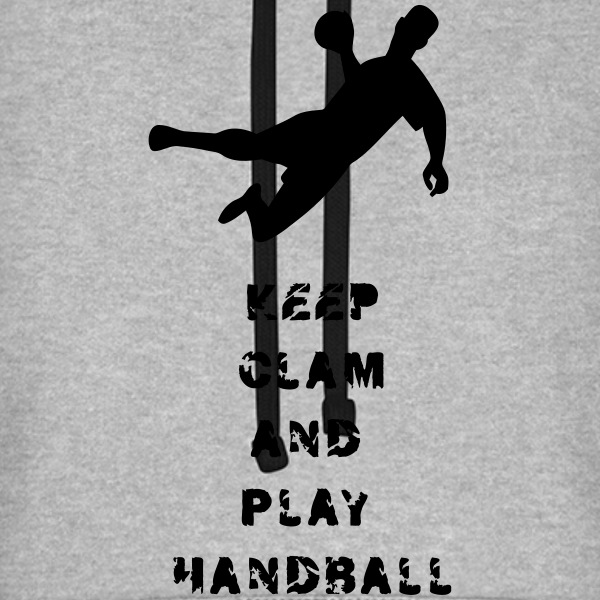 Keep Calm and Play Hand.. - Unisex Baseball Hoodie