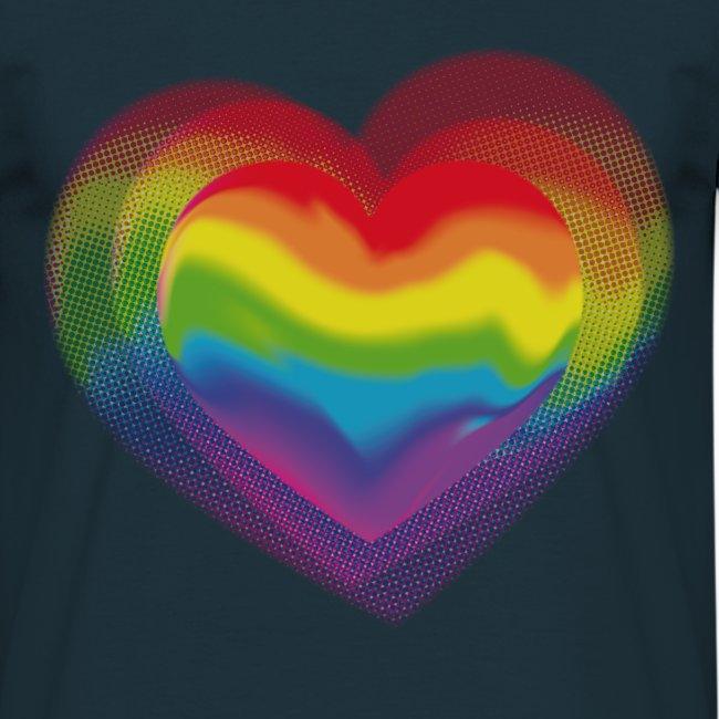 T-Shirt Rainbow Heart