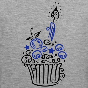 Cupcake with fruits and candle - Men's Premium Tank Top