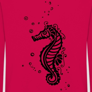Small seahorse with water bubbles and drops. - Kids' Premium Longsleeve Shirt