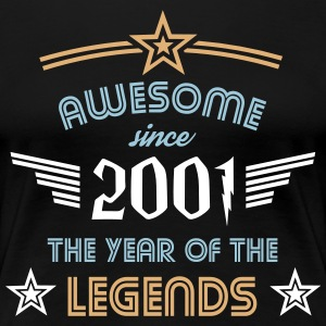 Awesome since 2001 T-Shirts - Frauen Premium T-Shirt