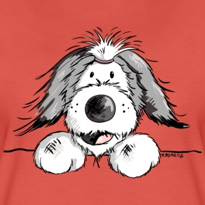 Fröhlicher Bearded Collie T-Shirts - Frauen Premium T-Shirt