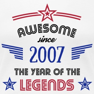 Awesome since 2007 T-Shirts - Frauen Premium T-Shirt