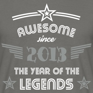 Awesome since 2013 - 2 Color Edition T-Shirts - Männer T-Shirt