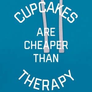 Cupcakes Cheaper Therapy Funny Quote Sweat-shirts - Sweat-shirt contraste