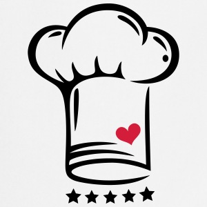 Cooking cap with five stars and heart  - Cooking Apron
