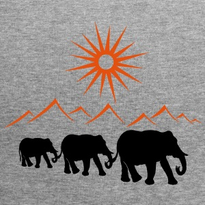Elephants in the desert, vacation, travel. - Jersey Beanie