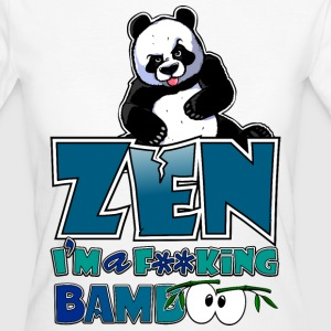 Women's Organic T-shirt Bad panda, be zen or not - Women's Organic T-shirt
