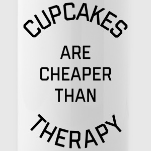 Cupcakes Cheaper Therapy Funny Quote Kopper & tilbehør - Drikkeflaske