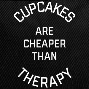 Cupcakes Cheaper Therapy Funny Quote Bags & Backpacks - Backpack