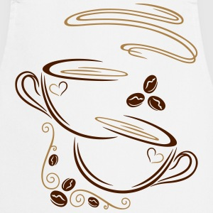 Coffee Cup with coffee beans and decoration. - Cooking Apron