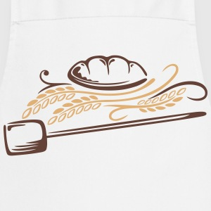 Bread with cereals. Beautiful bakery motif. - Cooking Apron