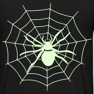 Spinnenweb - Glow in the dark - Mannen T-shirt