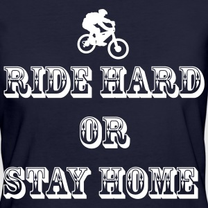 Ride hard bike T-Shirts - Frauen Bio-T-Shirt