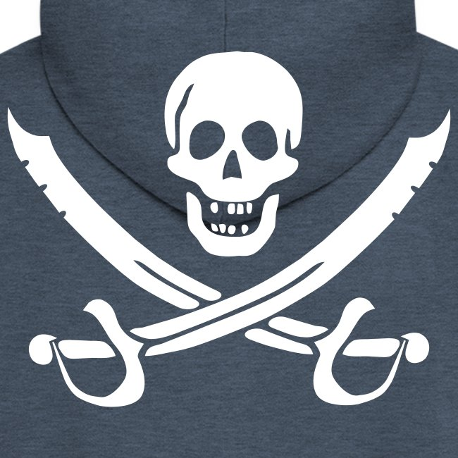 Piratenjacke Mann Weiß-Rot