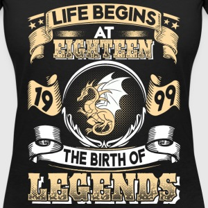 1999 - 18 years - Legends - 2017 - EN T-shirts - Vrouwen T-shirt met V-hals