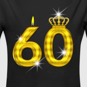 60 - Birthday - Queen - Gold - Flame & Crown Body neonato - Body ecologico per neonato a manica lunga