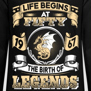 1967 - 50 years - Legends - 2017 - EN Manga larga - Camiseta de manga larga premium adolescente
