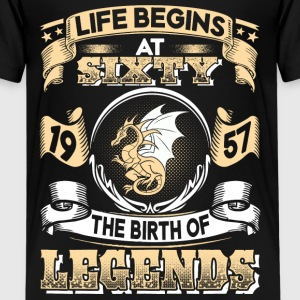 1957 - 60 years - Legends - 2017 - EN Shirts - Teenage Premium T-Shirt