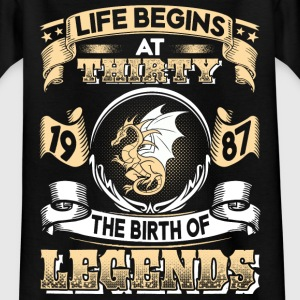1987 - 30 years - Legends - 2017 - EN T-shirts - T-shirt tonåring