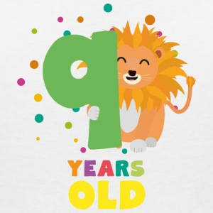 Neuf ans 9th Birthday Party Lion S0da9 Tee shirts - T-shirt col V Femme