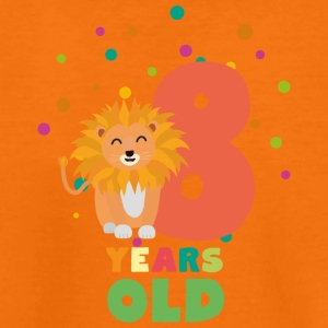 Otte år 8. Birthday Party løve Sgwku T-shirts - Teenager premium T-shirt