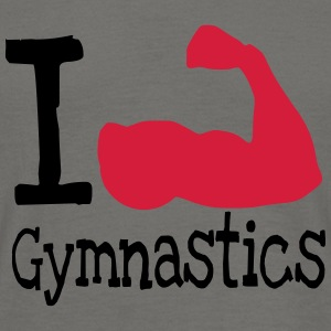 I love Gymnastics_red T-Shirts - Men's T-Shirt
