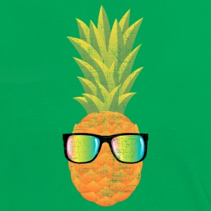 Pineapple With Rainbow Sunglasses | Cool 80s Style T-Shirts - Frauen Kontrast-T-Shirt