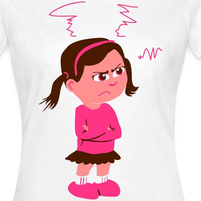 Lass mich - bin angepisst (Frauen T-Shirt weiß)