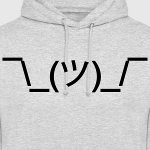 shruggy Smiley ahnungslos Meme nerd emoticon smile Gensere - Unisex-hettegenser