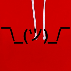 shruggy Smiley ahnungslos Meme nerd emoticon smile Sweaters - Contrast hoodie
