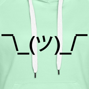 shruggy Smiley ahnungslos Meme nerd emoticon smile Pullover & Hoodies - Frauen Premium Hoodie