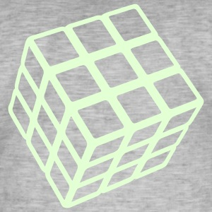 Rubik's Cube Glow In The Dark - Mannen Vintage T-shirt