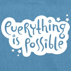 Everything is possible - Typografie Taschen & Rucksäcke - Schultertasche aus Recycling-Material
