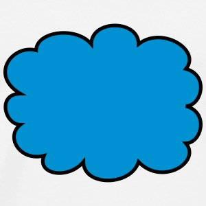 Cloud, speech bubble Koszulki - Koszulka męska Premium