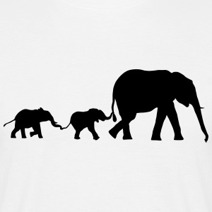Elephant family, elephants T-shirts - Herre-T-shirt