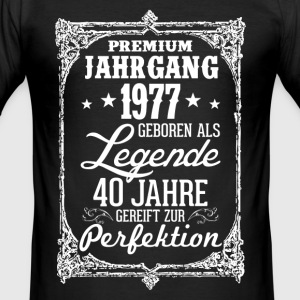 40 - 1977 - Legende - Perfektion - 2017 - DE T-Shirts - Männer Slim Fit T-Shirt