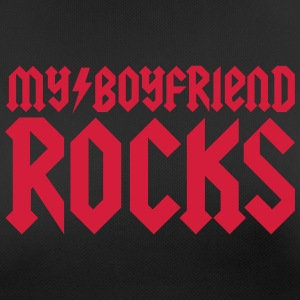 My boyfriend rocks T-Shirts - Frauen T-Shirt atmungsaktiv