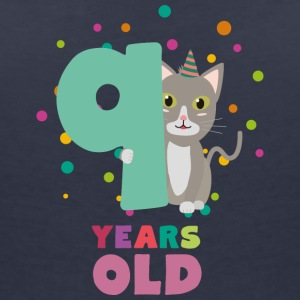 Neuf ans 9th Birthday Party Cat Ssfzu Tee shirts - T-shirt col V Femme
