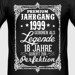 18 - 1999 - Legende - Perfektion - 2017 - DE T-Shirts - Männer Slim Fit T-Shirt