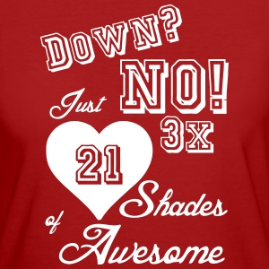3 x 21 Shades of Awesome (Trisomie 21)  - Frauen Bio-T-Shirt