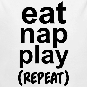 Eat nap play (repeat) Babybody - Økologisk langermet baby-body