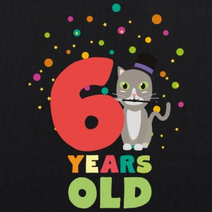 Six Years sixth Birthday Party Cat Sl9fe Bags & Backpacks - EarthPositive Tote Bag