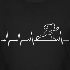 I love Rugby - heartbeat T-Shirts - Men's Organic T-shirt