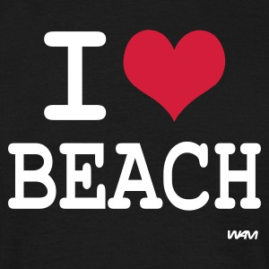 Noir i love beach by wam T-shirts - T-shirt Homme